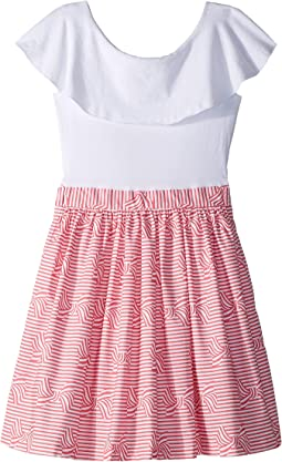 Ruffle Collar Bow Dress (Toddler/Little Kids/Big Kids)