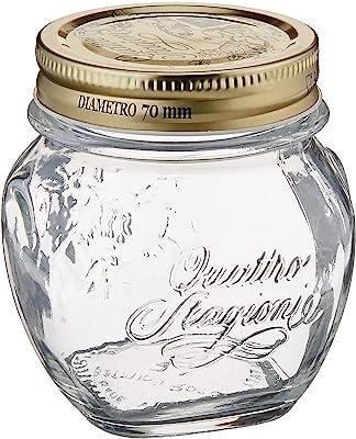 Bormioli Rocco Quattro Stagioni Anphora 10 1/8 Ounce Canning Jar, Set of 12