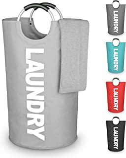 STAR HOME Storage Washing Baskets Laundry Bags in 5 Colors (Light Grey)