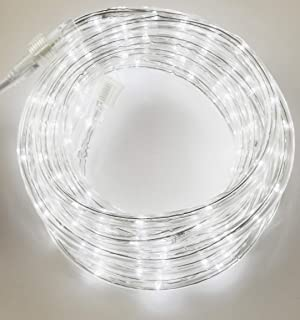 Izzy Creation 10.6FT Cool White LED Flexible Rope Lights Kit, Indoor/Outdoor Lighting, 3/8