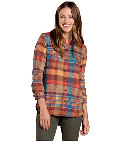 Toad&Co Re-Form Flannel Shirt (Ox Blue) Women