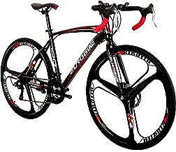 LOOCHO for Men and Women,21 Speed Road Bike 700C Wheels Road Bicycle Dual Disc Brake
