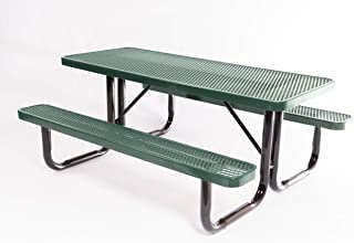 Coated Outdoor Furniture T6-GRN Rectangular Portable Picnic Table, 6 Feet, Green