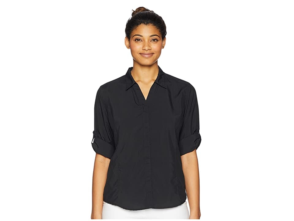 Royal Robbins Bug Barrier Expedition Long Sleeve Top (Jet Black) Women