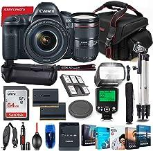 Canon EOS 5D Mark IV DSLR Camera with 24-105mm USM Lens Bundle + Battery Grip + Premium Accessory Bundle Including 64GB Me...
