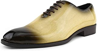 Brayden - Men's Dress Shoes - Exotic EEL Skin Print,...