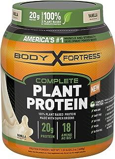Body Fortress Vegan Plant Based Hemp and Pea Protein Powder, Gluten Free, Vanilla, 1.51 lbs