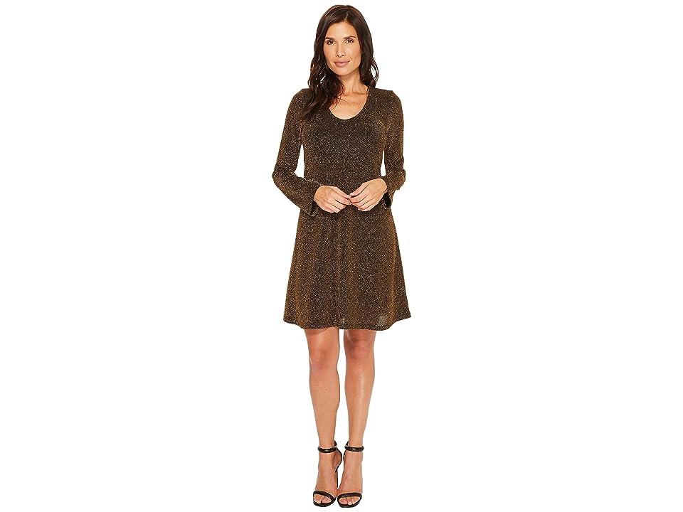 Karen Kane Knit Taylor Dress (Gold) Women