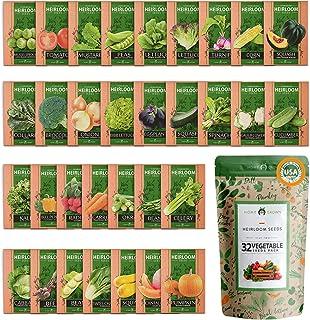 32 دانه گیاهی گیاهی برای کاشت - بیش از 15000 بذر باغ زنده ماندن - وسایل ضروری آماده سازی اضطراری - دانه های سبزیجات و میوه های غیر GMO برای کاشت - بسته انواع باغ - دانه های اشکال دار