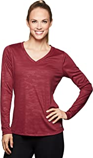 Active Women's Long Sleeve Super Soft Space Dye Workout Running Tee Shirt