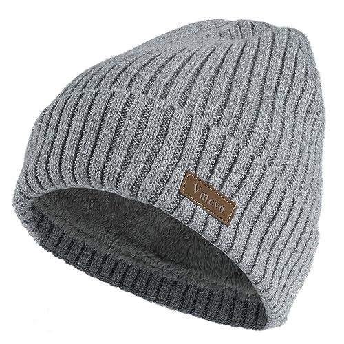 e51553fe828 Vmevo Wool Cuffed Plain Beanie Warm Winter Knit Hats Unisex Watch Cap Skull  Cap