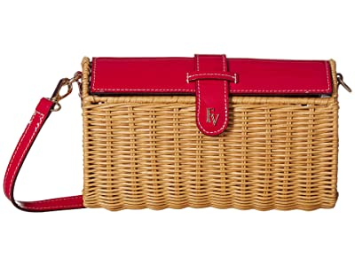 Frances Valentine Betsy Wicker Crossbody (Red) Handbags