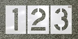CH Hanson 12 Piece Number Kit - Pavement Stencil - Font Size 12