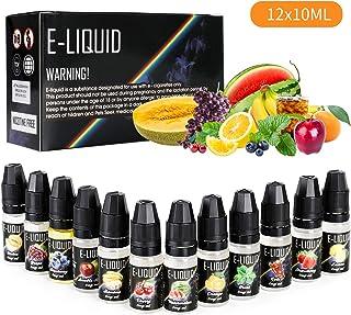 Ato Bea E-líquido,12 X 10ml Cigarrillo electrónico Liquido electrónico cigarrillo electrónico Electronic sin nicotina o tabaco, 12 Tastes 0mg Nicotine 80VG / 20PG E-líquido