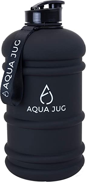 Aqua Jug Big Water Bottle Dishwasher Safe BPA Free Drinking Water 2 2L Great For Gym Fitness Workout Sports Hiking And More