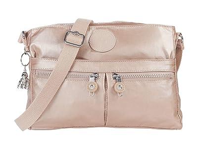Kipling New Angie Crossbody Bag (Rose Gold Metallic) Handbags