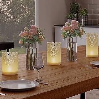 Lavish Home Vanilla Scented Wax, Realistic Flameless Pillar Lights-Ambient Home Décor, 80-FC1007, NA, Na, NA
