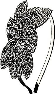 Babeyond Art Deco Headpiece Flapper Headband 1920s Headpiece Rhinestone Headband for Women, Black