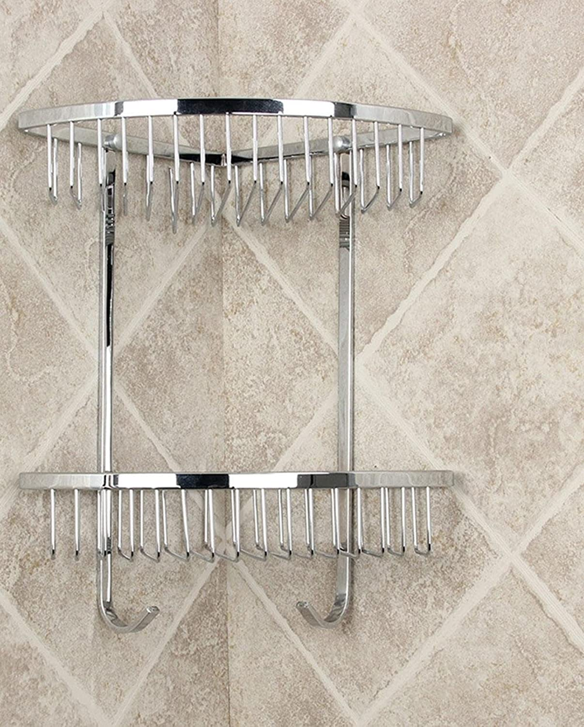 SSBY High-grade stainless steel racks, bathroom and thick solid steel rod with hook rack