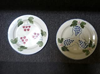 Poole England Pottery Set of Two Fruit Plates