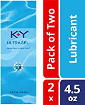 K-Y UltraGel Premium Water Based Lube- Personal Lubricant Safe To Use With Latex Condoms, Devices, Sex Toys and Vibrators, 4.5 oz., Pack of 2
