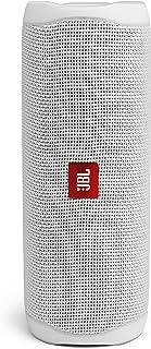 JBL Flip 5 Bluetooth Box in Weiß – Wasserdichter, portabler Lautsprecher mit umwerfendem Sound – Bis zu 12 Stunden kabellos Musik abspielen