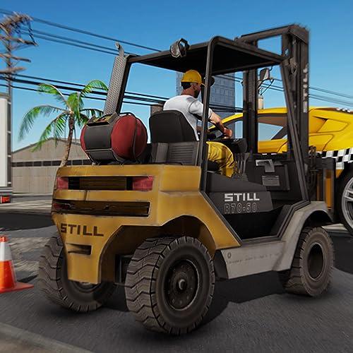 Forklift Traffic Police Driver Simulator 3d : Construction Cargo Forklift Driving Adventure Game 2019