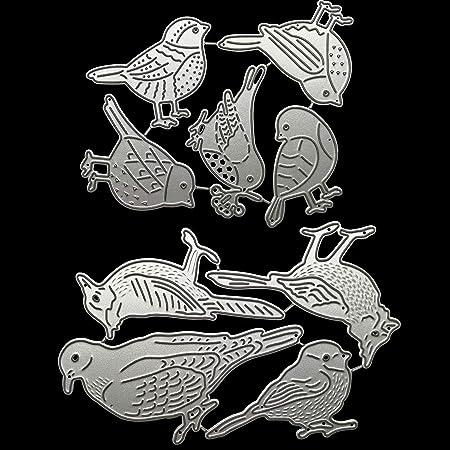 SCmqzmn Little Bird Metal Die Cuts DIY Scrapbooking Photo Album Decorative Embossing Paper Dies for Card Making Template Die Metal Dies for Paper Crafting /& Card Making Embossing