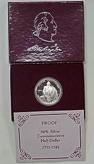 1982 S George Washington 90% Silver Proof Half Dollar OGP US Mint