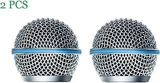Bolymic - Rejilla de micrófono de metal para micrófono SM58, Beta58/Beta58A (2 unidades)