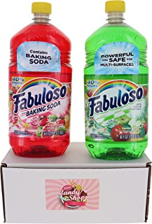 Fabuloso Multi-Purpose Cleaner 56 FL OZ Variety Pack of 2 (Baking Soda Fruits, Passion Fruit) (1 of Each, Total of 2)
