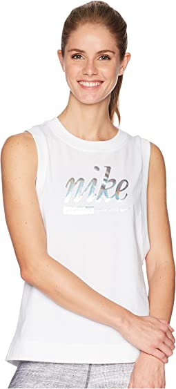 Sportswear Metallic Tank Top