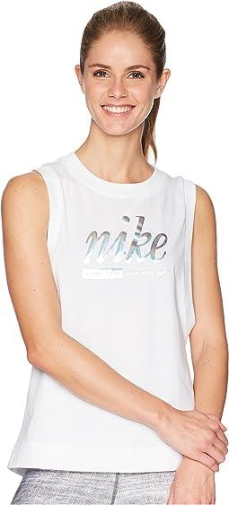 Sportswear Metallic Tank Top
