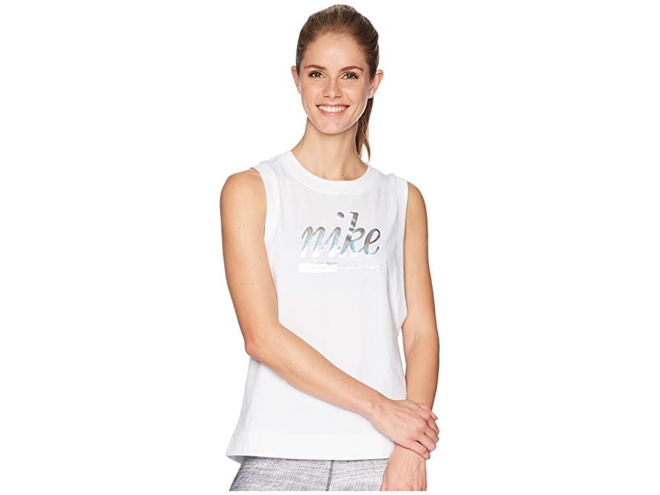 Nike Sportswear Metallic Tank Top (White) Women