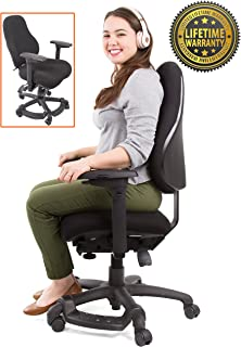Stand Steady Neutral Posture 8600 – Comfort & Support for Users up to 275 lbs! High Back Ergonomic Chair/Office Chair - Extra Cushion - Larger Seat! (Large – All Black)
