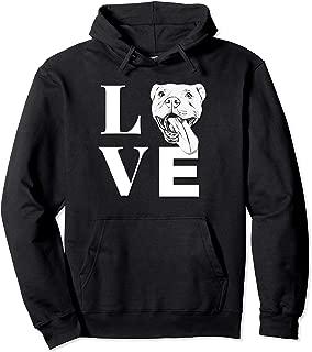 Love Pit Bulls - Designer PitBull Hoodie