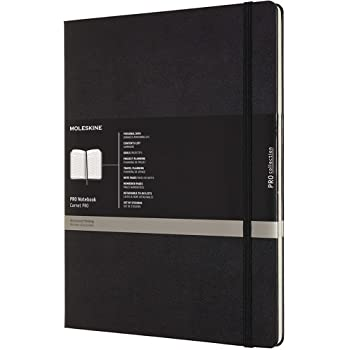 """Moleskine PRO Notebook, Hard Cover, XXL (8.5"""" x 11"""") Professional Project Planning, Black, 192 Pages"""