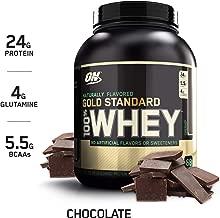 OPTIMUM NUTRITION GOLD STANDARD 100% Whey Protein Powder, Naturally Flavored Chocolate, 4.8 Pound