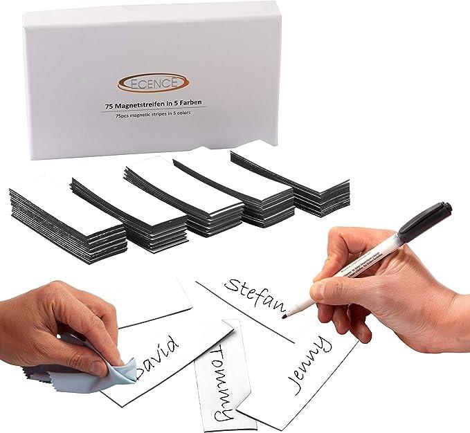 746 opinioni per ECENCE 75 Etichette magnetiche scrivibili- 60x20mm Bianco- Strisce adesive
