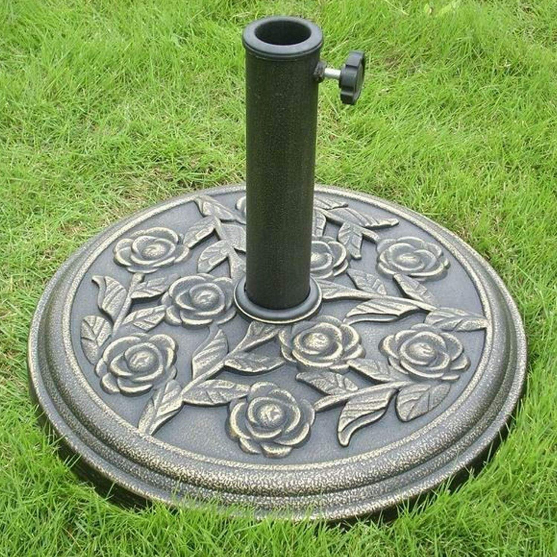 My Garden Path - Base para sombrilla de jardín con Aspecto de Hierro Fundido: Amazon.es: Jardín