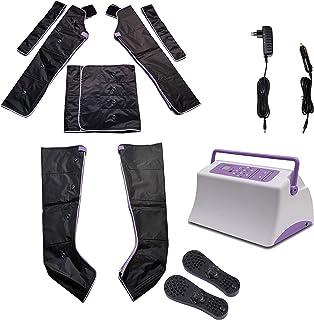 Equipo de Presoterapia Profesional, Masajeador de Pies y Piernas para los Brazo Abdomen Becerros y Pies Masaje con 6 Modos y 9 Intensidades de Compresión de Aire Útil para la Circulación Corporal