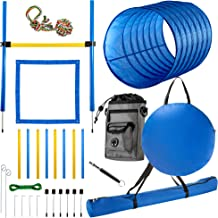 CHEERING PET Dog Agility Equipment, 28 Piece Dog Obstacle Course for Training and Interactive Play Includes Dog Agility Tu...