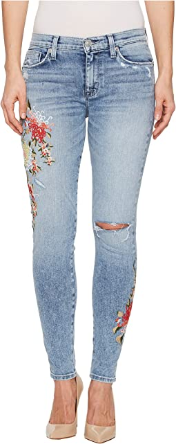Hudson - Nico Mid-Rise Ankle Super Skinny Jeans in Lush Floret