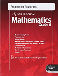 Holt McDougal Mathematics: Common Core Assessment Resources with Answers Grade 6