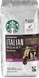 Starbucks Italian Roast Dark Roast Whole Bean Coffee, 12-Ounce Bag (Pack of 6)