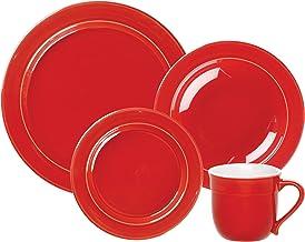 Emile Henry 4-Piece Dinnerware Set, Cerise