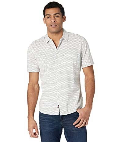 Faherty Short Sleeve Knit Coast Shirt (White Fish Scale) Men