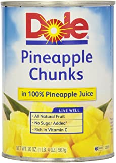 Dole Pineapple Chunks in Juice, 20-Ounce (Pack of 24)