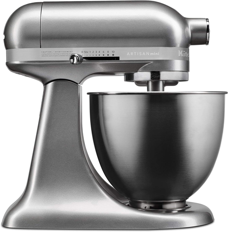 Amazon Com Kitchenaid Ksm3316 Ksm3311xcu Artisan Mini Series Tilt Head Stand Mixer 3 5 Quart Contour Silver Renewed Kitchen Dining
