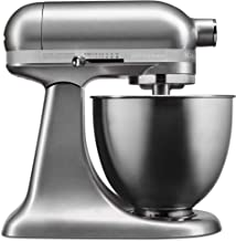 KitchenAid KSM3316 KSM3311XCU Artisan Mini Series Tilt-Head Stand Mixer, 3.5 Quart, Contour Silver (Renewed)